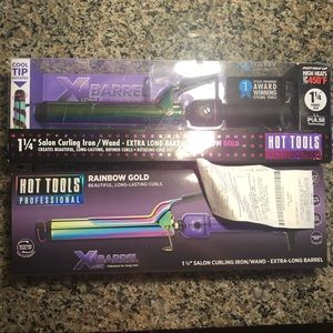 "New 1 1/4"" hot tools curling iron. Rainbow. XL"